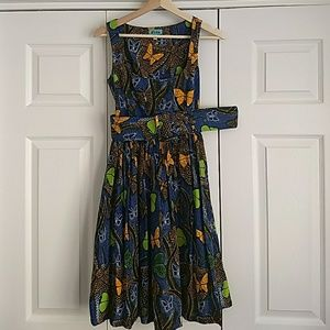 Sika African Print Butterfly dress. Size 1